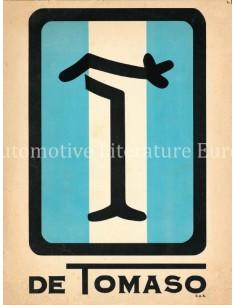 1973 DE TOMASO PROGRAMMA BROCHURE ITALIAANS ENGELS