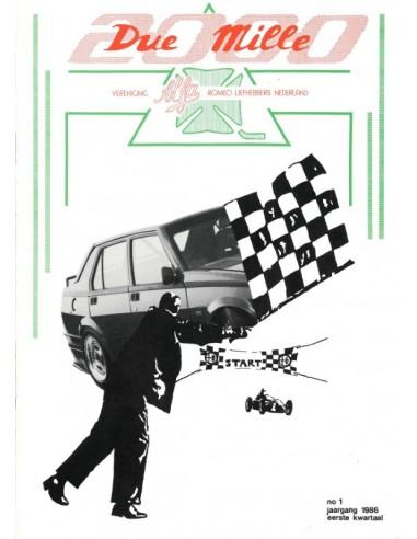 1986 ALFA ROMEO CLUB DUE MILLE  MAGAZINE 1 DUTCH