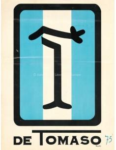 1974 DE TOMASO PROGRAMMA BROCHURE ITALIAANS ENGELS