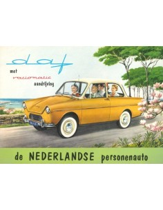 1959 DAF 600 VARIOMATIC BROCHURE NEDERLANDS