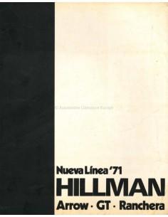 1971 HILLMAN ARROW GT RANCHERA PROGRAMM PROSPEKT