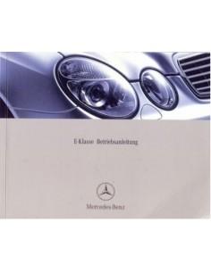 2002 MERCEDES BENZ E CLASS OWNERS MANUAL HANDBOOK GERMAN