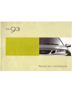 2003 SAAB 9.3 OWNERS MANUAL HANDBOOK ITALIAN