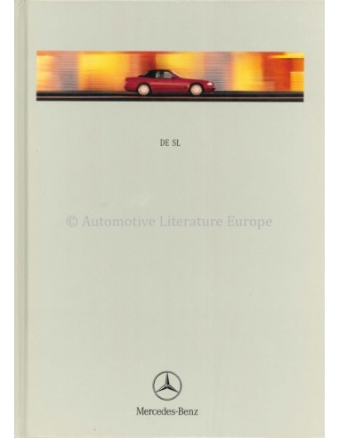 1998 MERCEDES BENZ SL HARDCOVER BROCHURE NEDERLANDS