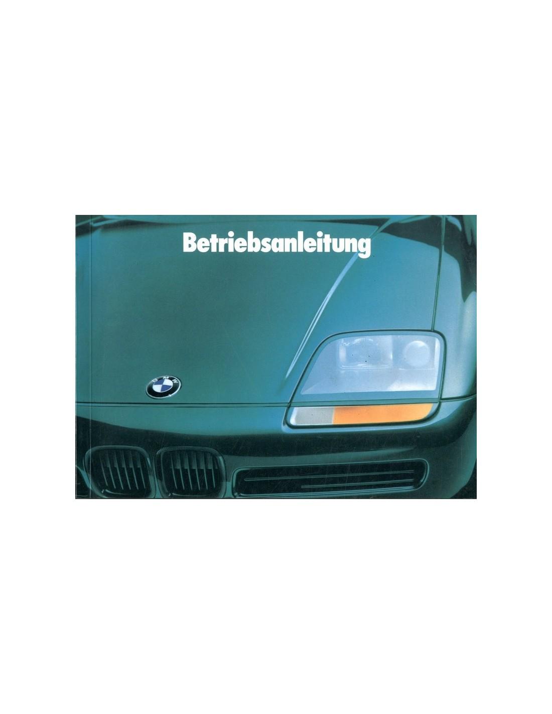 1989 bmw z1 owner 39 s manual german. Black Bedroom Furniture Sets. Home Design Ideas
