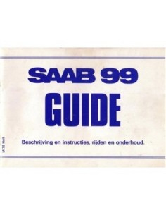 1979 SAAB 99 OWNERS MANUAL HANDBOOK DUTCH