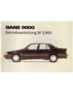 1989 SAAB 9000 CD INSTRUCTIEBOEKJE DUITS