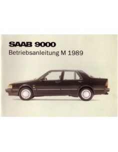 1989 SAAB 9000 CD OWNERS MANUAL GERMAN