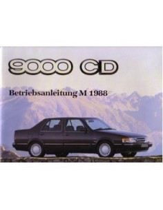 1988 SAAB 9000 CD OWNERS MANUAL HANDBOOK GERMAN