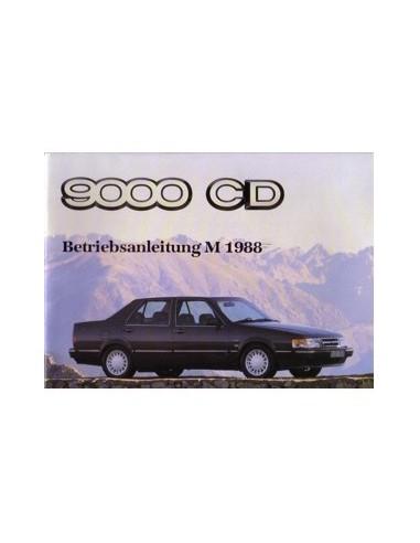 1988 SAAB 9000 CD INSTRUCTIEBOEKJE DUITS
