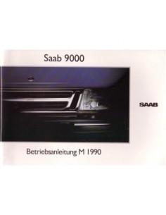 1990 SAAB 9000 BETRIEBSANLEITUNG DEUTSCH