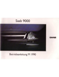 1990 SAAB 9000 OWNERS MANUAL HANDBOOK GERMAN