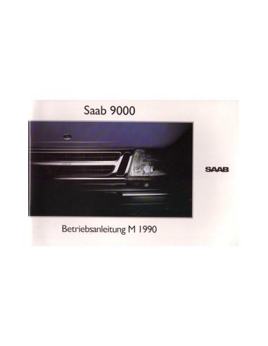 1990 SAAB 9000 INSTRUCTIEBOEKJE DUITS