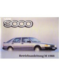 1988 SAAB 9000 OWNERS MANUAL HANDBOOK GERMAN