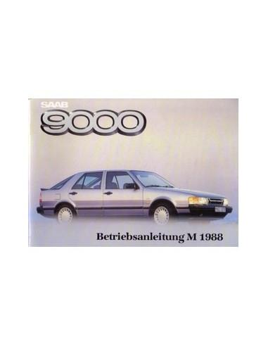 1988 SAAB 9000 INSTRUCTIEBOEKJE DUITS