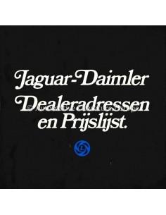 1976 JAGUAR-DAIMLER HÄNDLERADDRESSE & PREISLISTE ENGLISCH