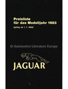 1983 JAGUAR PREISLISTE DEUTSCH