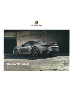 2020 PORSCHE 911 TURBO S HARDCOVER PROSPEKT ENGLISCH
