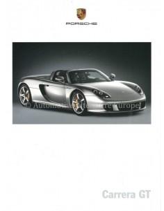 2003 PORSCHE CARRERA GT BROCHURE GERMAN