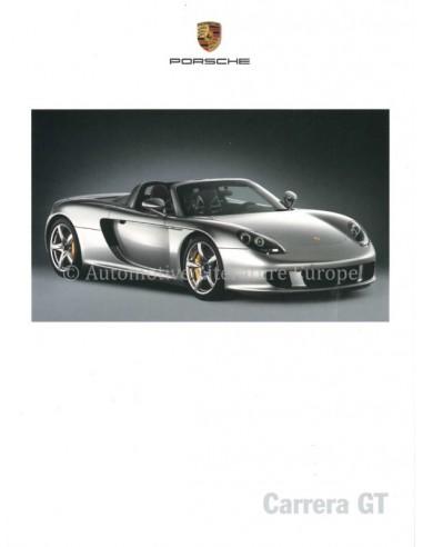 2003 PORSCHE CARRERA GT BROCHURE DUITS