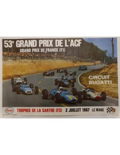 1967 53E GRAND PRIX L'ACF FRANCE ORIGINAL POSTER