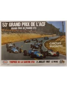 1967 53E GRAND PRIX L'ACF FRANCE ORIGINELE POSTER
