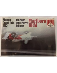 1972 GRAND PRIX MONACO MARLBORO BRM ORIGINAL POSTER