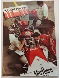 1972 GRAND PRIX MONACO MARLBORO BRM ORIGINELE POSTER