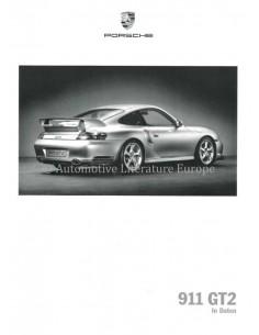 2002 PORSCHE 911 GT2 MODEL DATA BROCHURE GERMAN