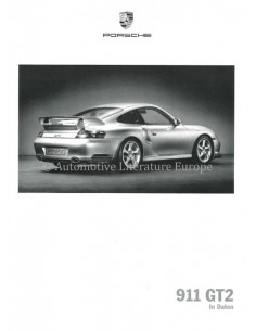 2002 PORSCHE 911 GT2 MODELL IN DATEN PROSPEKT DEUTSCH