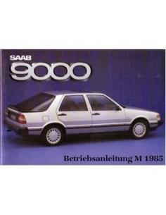 1985 SAAB 9000 BETRIEBSANLEITUNG DEUTSCH