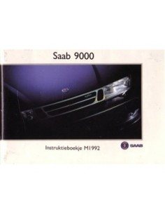 1992 SAAB 9000 OWNERS MANUAL HANDBOOK DUTCH