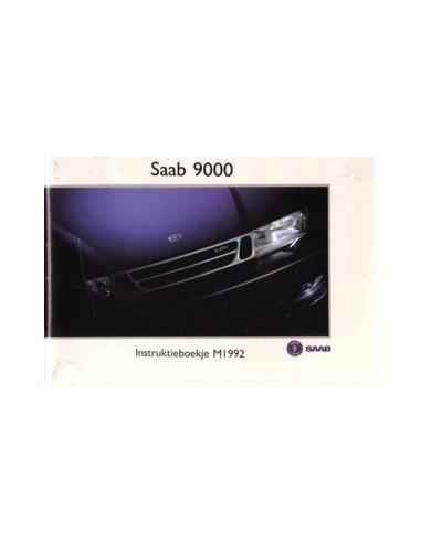 1992 SAAB 9000 INSTRUCTIEBOEKJE NEDERLANDS