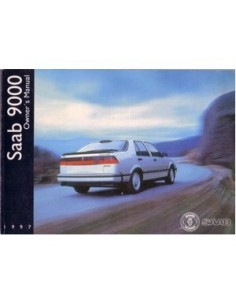 1997 SAAB 9000 OWNERS MANUAL HANDBOOK ENGLISH