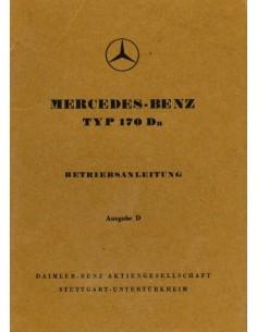 1952 MERCEDES BENZ 170 DA BETRIEBSANLEITUNG DEUTSCH