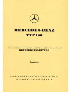 1954 MERCEDES BENZ TYPE 180 BETRIEBSANLEITUNG DEUTSCH