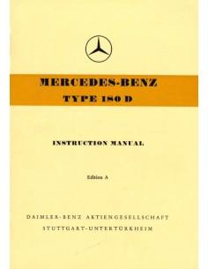 1954 MERCEDES BENZ TYPE 180 BETRIEBSANLEITUNG ENGLISCH