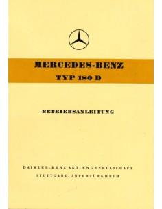 1956 MERCEDES BENZ TYP 180 D BETRIEBSANLEITUNG DEUTSCH