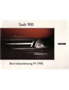 1990 SAAB 900 OWNERS MANUAL HANDBOOK GERMAN