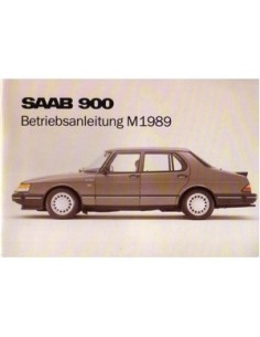 1989 SAAB 900 OWNERS MANUAL HANDBOOK GERMAN