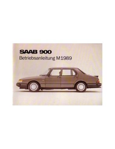 1989 SAAB 900 INSTRUCTIEBOEKJE DUITS