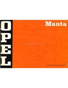 1971 OPEL MANTA OWNERS MANUAL DUTCH