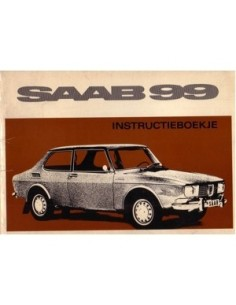 1969 SAAB 99 OWNERS MANUAL HANDBOOK DUTCH