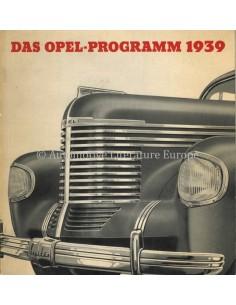 1939 OPEL PROGRAMM PROSPEKT DEUTSCH