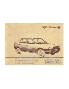 1983 ALFA ROMEO 33 OWNERS MANUAL HANDBOOK GERMAN