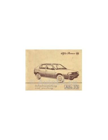 1983 ALFA ROMEO 33 INSTRUCTIEBOEKJE DUITS