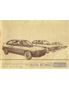 1981 ALFA ROMEO ALFASUD OWNERS MANUAL GERMAN