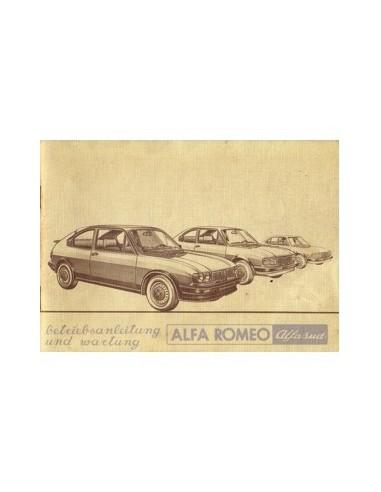1981 ALFA ROMEO ALFASUD INSTRUCTIEBOEKJE DUITS