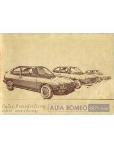 1981 ALFA ROMEO ALFASUD OWNERS MANUAL GERMAN