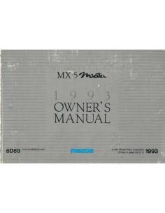1993 MAZDA MX-5 MIATA BETRIEBSANLEITUNG ENGLISCH
